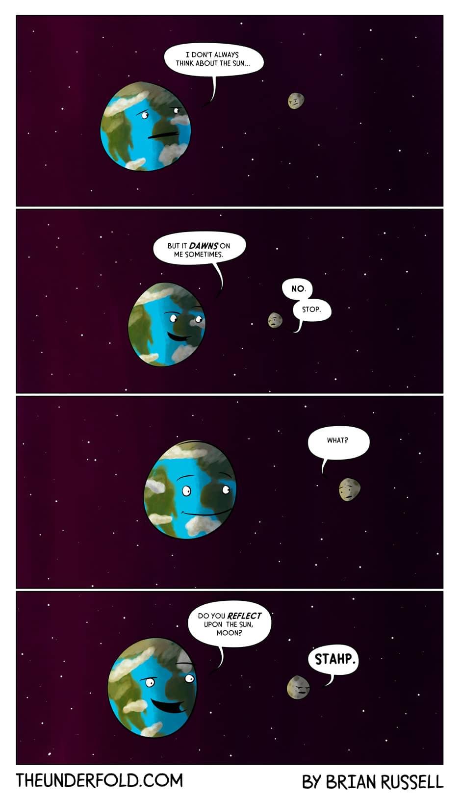 Earth, Moon And Sun