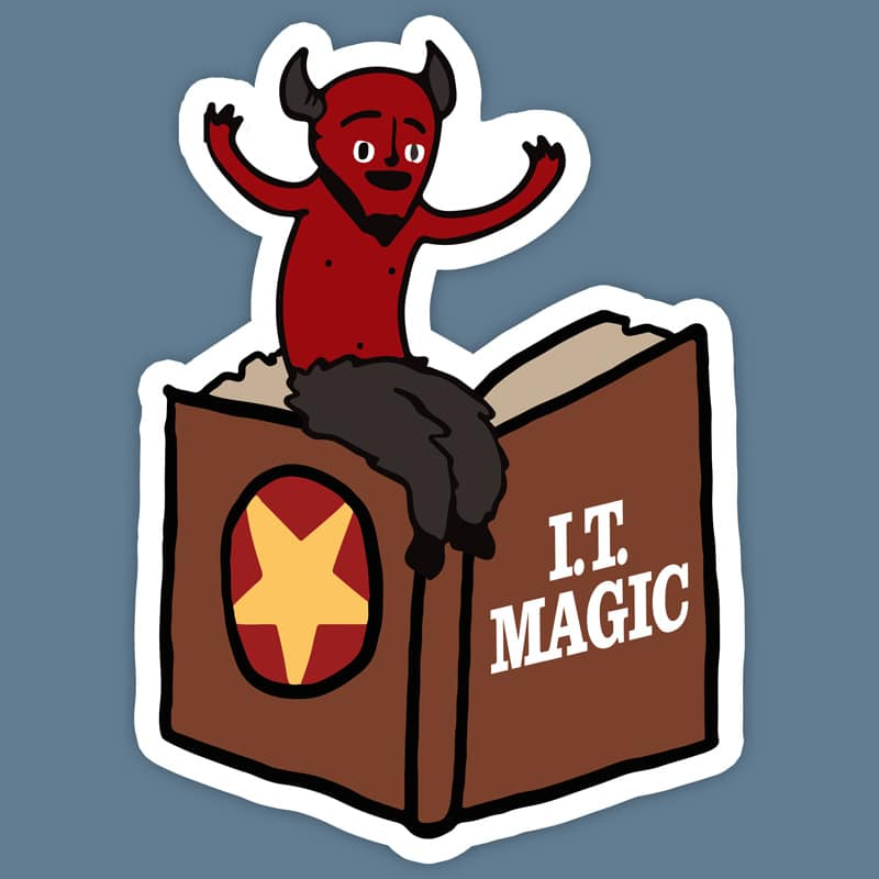 IT Demon Sticker (3″ Die Cut)